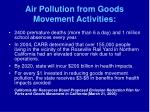 air pollution from goods movement activities