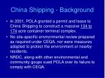 china shipping background