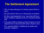 the settlement agreement