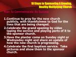 10 steps to sponsoring a growing healthy multiplying church16