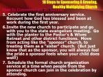 10 steps to sponsoring a growing healthy multiplying church17