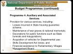 budget programmes continued1
