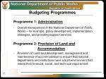 budgeting programmes