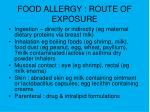 food allergy route of exposure