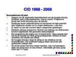 cio 1998 20082