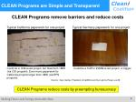 clean programs are simple and transparent