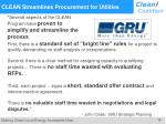 clean streamlines procurement for utilities