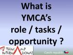 what is ymca s role tasks opportunity