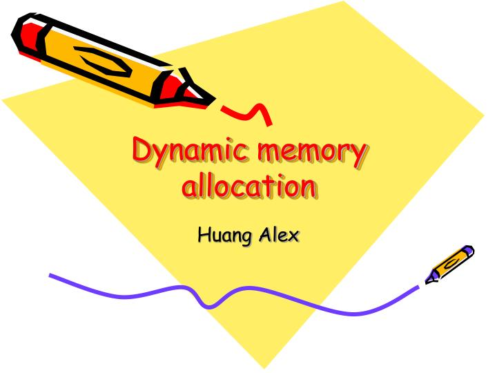 dynamic memory allocation n.