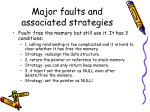 major faults and associated strategies1