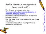 senior resource management items used in c1