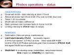 phobos operations status