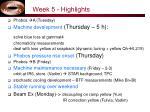 week 5 highlights