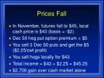 prices fall