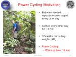 power cycling motivation