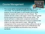 course management