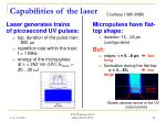 capabilities of the laser