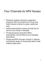 four channels for arv access
