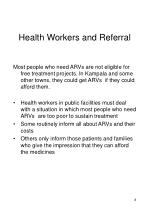 health workers and referral