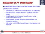evaluation of ft data quality1