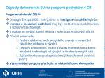 dopady dokument eu na podporu podnik n v r