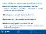 hlavn principy pro programovac obdob 2014 2020