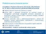 p edb n pozice evropsk komise