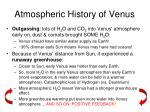 atmospheric history of venus