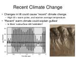 recent climate change1