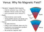 venus why no magnetic field