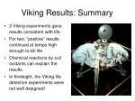 viking results summary