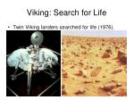 viking search for life