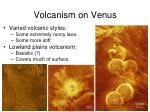 volcanism on venus
