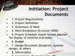 initiiation project documents
