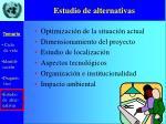 estudio de alternativas