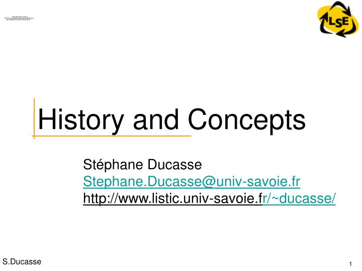 history and concepts n.