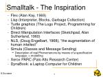 smalltalk the inspiration