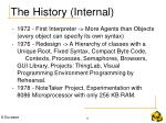 the history internal