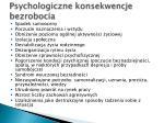 psychologiczne konsekwencje bezrobocia