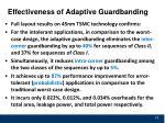 effectiveness of adaptive guardbanding