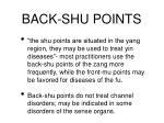 back shu points