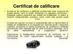 certificat de calificare