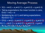 moving average process