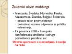 zakonski okviri mobbinga