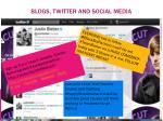 blogs twitter and social media