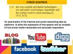 cyber soapbox