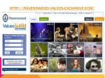 http ravenswood values exchange com