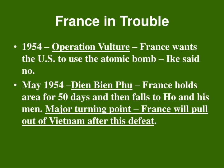 France in Trouble