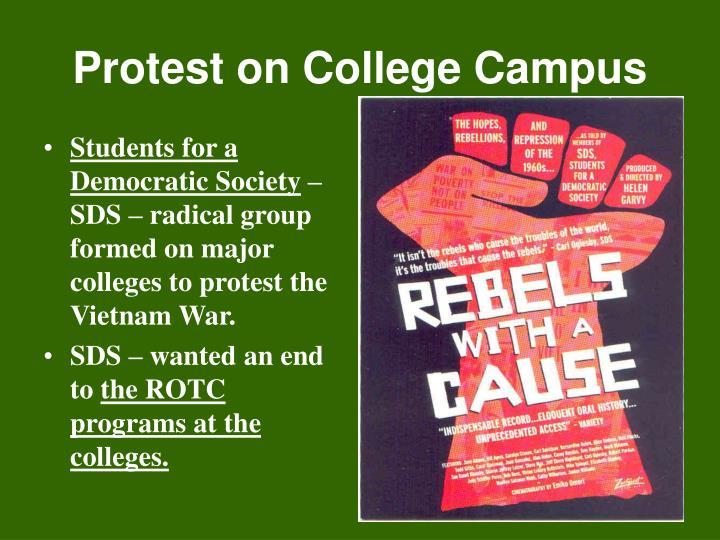 Protest on College Campus
