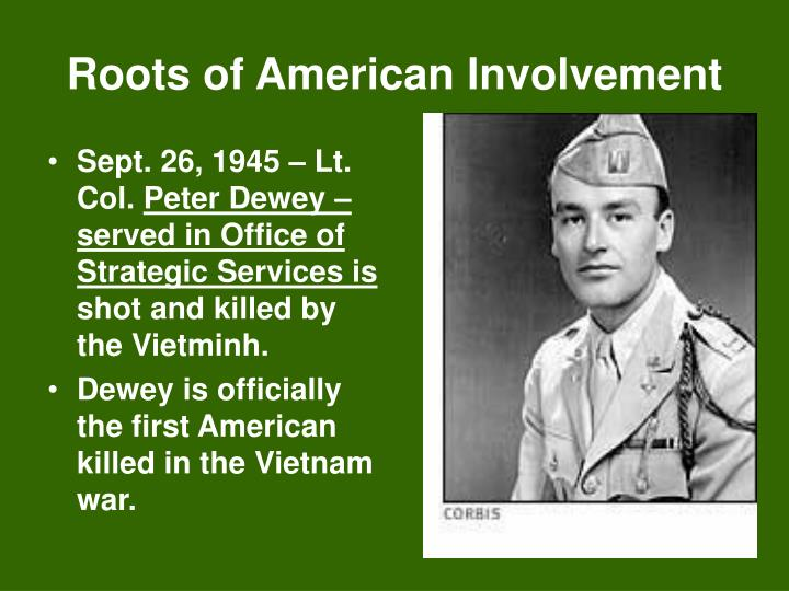 Roots of American Involvement
